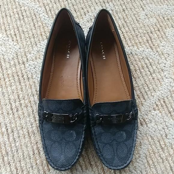 3b46786ff20 Coach Shoes - Coach Olive Signature C black-smoke loafer sz 10